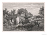 Swing Bridge on the Sodertelge Canal Sweden Giclee Print by S. Hallbeck