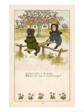 See Saw Jack in the Hedge Which is the Way to London Bridge Premium Giclee Print by Kate Greenaway