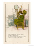 Little Jack Horner Sat in a Corner Eating a Christmas Pie Giclee Print by Kate Greenaway