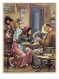 Gypsies Offer to Read the Hand of Signor F.Z. at Rho Milan Giclee Print by Walter Molini