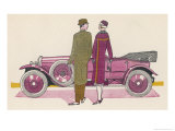 Cheri How Divinely Clever of You to Find a Renault That Goes So Tastefully with My Coat! Giclee Print by Jean Grangier