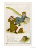 Jack and Jill after They Have Fallen Down the Hill Premium Giclee Print by Kate Greenaway