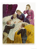 Albert on His Deathbed with His Grieving Children Giclee Print by Harry Payne