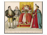 Nobleman and Knight of the Order of the Garter at the Court of Queen Elizabeth I Giclee Print by Albert Kretschmer