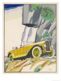 On a Mountain Road Good Shock Absorbers are Desirable Giclee Print by Planas