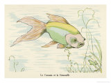 The Barbless Carp or Carassin Giclee Print by Germaine Hagemans