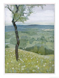 View from the Hill Premium Giclee Print by Rudolf Sieck