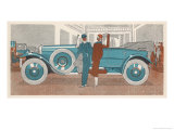 Two Stand Beside Their Vast Renault Giclee Print by Jean Grangier