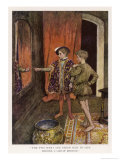 Tom and Prince Edard Stand Side by Side in Front of a Great Mirror Giclee Print by William Hatherell