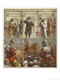 King Charles I Prepares for His Execution on the Scaffold in Front of the Palace of Whitehall Premium Giclee Print by Joseph Kronheim
