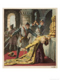 Thomas a Becket Archbishop of Canterbury is Murdered is His Own Cathedral by Knights Giclee Print by Joseph Kronheim