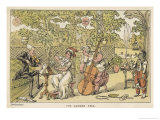 String Trio in the Garden with a Potential Brass Player Waiting for His Opportunity on the Right Giclee Print by Thomas Rowlandson