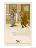 Tell-Tale Tit Your Tongue Shall be Slit and All the Dogs in the Town Shall Have a Little Bit Giclee Print by Kate Greenaway