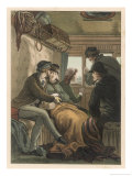Passengers in a Spanish Railway Compartment Giclee Print by D. Eusebio Planas