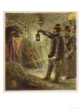 Guy Fawkes is Discovered in the Vaults Under Parliament House and is Apprehended Giclee Print by Joseph Kronheim