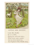 She Upsets Her Stool When She Finds a, Really Rather Small, Spider Sharing It with Her Giclee Print by Kate Greenaway