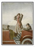 Three Women in a Car Giclee Print by O. Lenbecke