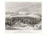 Battle of Eylau the French Garde Imperiale Charge Gloriously Against the Prussians and Russians Giclee Print by J. Rose