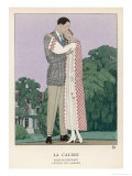 Elegant Embrace 1922 Giclee Print by A.e. Marty