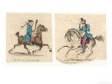Two Men Riding: The Old Way of Showing Off Giclee Print by Henry Heath