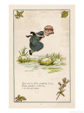 Here Am I Little Jumping Joan When Nobodys with Me I'm All Alone Giclee Print by Kate Greenaway