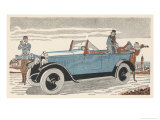 Peugeot at the Golf Club Giclee Print by Jean Grangier