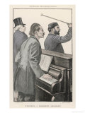 Jules Massenet French Composer with Fellow- Musicians d'Ennery and Gailhard Giclee Print by Paul Renouard