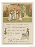 Group of Children Play Queen Anne and Her Maids in a Garden Giclee Print by Kate Greenaway