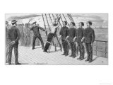 Flogging a Misbehaving Sailor on Board a Troopship Giclee Print by William Ralston