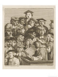 Scholars at a Lecture, Display Various Symptoms of Boredom Giclee Print by William Hogarth