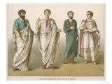 Ancient Rome: Clothing Worn by a Public Orator Giclee Print by Albert Kretschmer