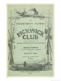 Front Cover of the First Issue of the Pickwick Papers Giclee Print by Robert Seymour