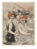 Bathing Lady and Bathing-Woman Giclee Print by E. Hulemann