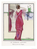 Red Tunic Dress by Paquin Giclee Print by Maggie 