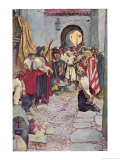 Morgan's Men Sack a Spanish Treasure Town Giclee Print by Howard Pyle