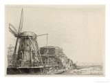 Somewhat Dilapidated Dutch Windmill Giclee Print by Rembrandt van Rijn