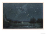 Star-Filled Sky Featuring the Constellation of Orion Premium Giclee Print by W. Kranz