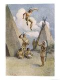 Sioux Myth of Ictinike Son of the Sun God Giclee Print by James Jack