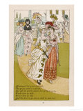 All Around the Green Gravel the Grass is So Green and All the Pretty Maids are Fit to be Seen Giclee Print by Kate Greenaway