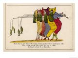 There was an Old Man of Marseilles Giclee Print by Edward Lear