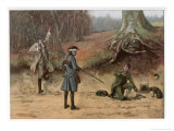Poacher is Caught Red-Handed by a Gentleman and His Gamekeeper Giclee Print by G. Goodwin Kilburne