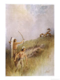 The Sioux War Chief Shoots an Arrow at the Monster Ratlesnake and Kills It Giclee Print by James Jack