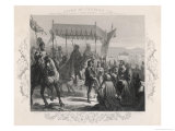The French King Charles VIII Makes a Grand Entry into Naples Giclee Print by Harry Payne