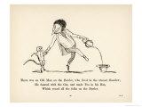 There was an Old Man on the Border Who Lived in the Utmost Disorder Giclée-Druck von Edward Lear