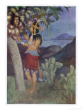 """Popol Vuh,"" an Ancient Mayan Manuscript Giclee Print by Gilbert James"