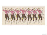 Chorus Line at the Alhambra Theatre Giclee Print by  MARS (Maurice Bonvoisin)