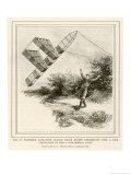 The Inventor Alexander Graham Bell Flying His Tetrahedral Kite Giclee Print by E.j. Meeker