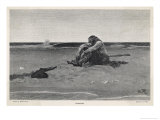 Pirate is Dumped by His Companions Giclee Print by Howard Pyle