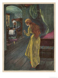 The Princess at the Age of 15 Finds an Old Lady Spinning Giclee Print by Willy Planck