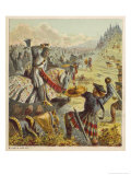 The English Forces of King Edward I Battle Against the Scots Under William Wallace Giclee Print by Joseph Kronheim